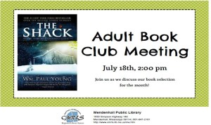 Adult Book Club Meeting Mendenhall Library