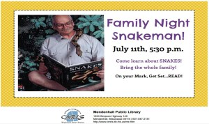 Family Night with Snake Man Mendenhall Library