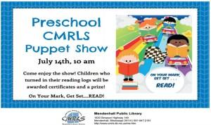 Preschool Puppet Show Mendenhall Library
