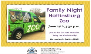 Family Night with Hattiesburg Zoo Mendenhall Library
