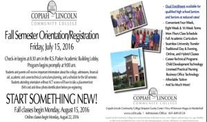Co-Lin Simpson Campus Registration/Orientation