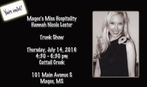 Magee's Miss Hospitality Trunk Show