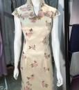 台北媽媽禮服,高V領,魚尾,繡花,改良式,旗袍