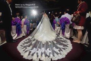 新秘,婚禮造型,白紗,長頭紗