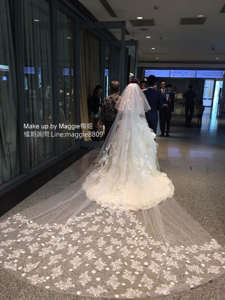新娘白紗進場長頭紗 (2)
