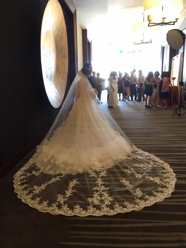 新娘白紗進場長頭紗 (38)