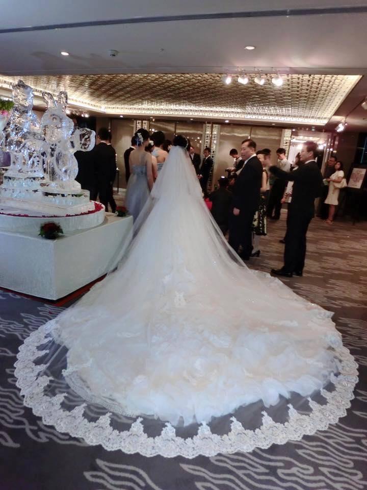 新娘白紗進場長頭紗 (43)