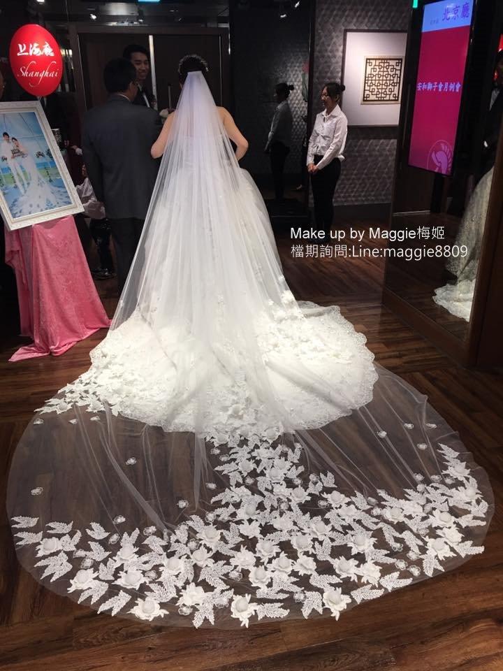 新娘白紗進場長頭紗 (5)