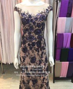 媽媽禮服,亮片晚禮服,無敵瘦身,修飾版型,晚禮服,亮藍色晚禮服