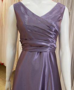 台北媽媽禮服,紫色,V領,A-line,短禮服,小禮服,披肩