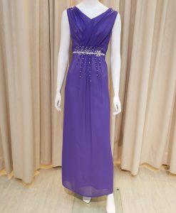 紫色,雪紡紗,V領,亮鑽,長禮服,披肩