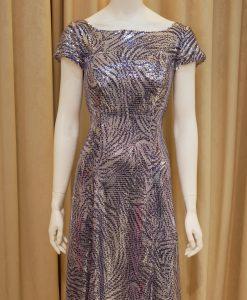 銀色,紫色,亮片,寬領,短袖,魚尾裙,長禮服,媽媽禮服,婆婆禮服,主婚人,台北媽媽禮服, ,媽媽裝禮服,媽媽宴客禮服,媽媽晚宴服