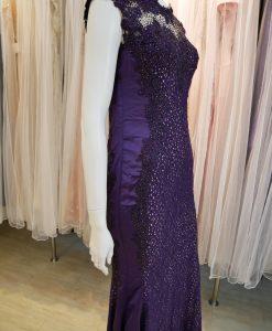 紫色,蕾絲,亮鑽,魚尾裙,長禮服,媽媽禮服,婆婆禮服,主婚人,晚宴服,台北媽媽禮服, ,媽媽裝禮服,媽媽宴客禮服,媽媽晚宴服,媒人婆,好命婆
