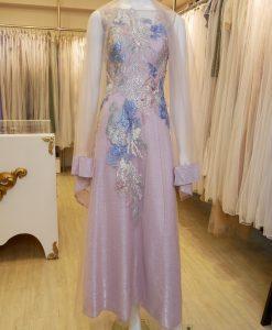 紫色,刺繡,A-line,長禮服,媽媽禮服,婆婆禮服,主婚人,晚宴服,台北媽媽禮服, ,媽媽裝禮服,媽媽宴客禮服,媽媽晚宴服,媒人婆,好命婆