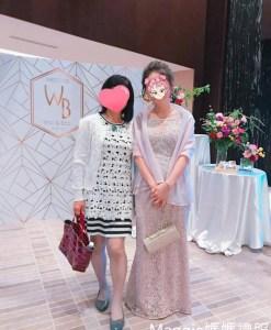 (台北媽媽禮服)宴客實穿M53藕粉亮鑽蕾絲包肩長禮服