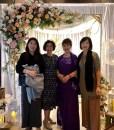 (台北媽媽禮服)宴客實穿MK12紫亮鑽緞面抓皺卡肩長禮服