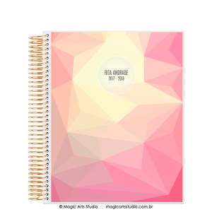 Magic Planner tamanho Large com espiral dourado - Abstract summer