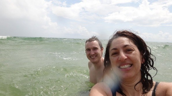 Otres Beach, Sihanoukville - Playing In The Ocean