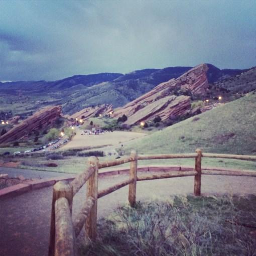 Red Rocks Ampitheatre in Denver, CO