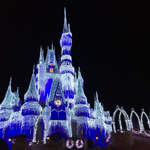 Disney World's Cinderella Castle at Christmas is simply magical.