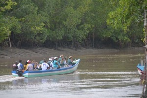 EU-group-in-boat-at-the-Mahaica-Creek