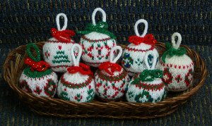 Christmas Bulbs in Basket