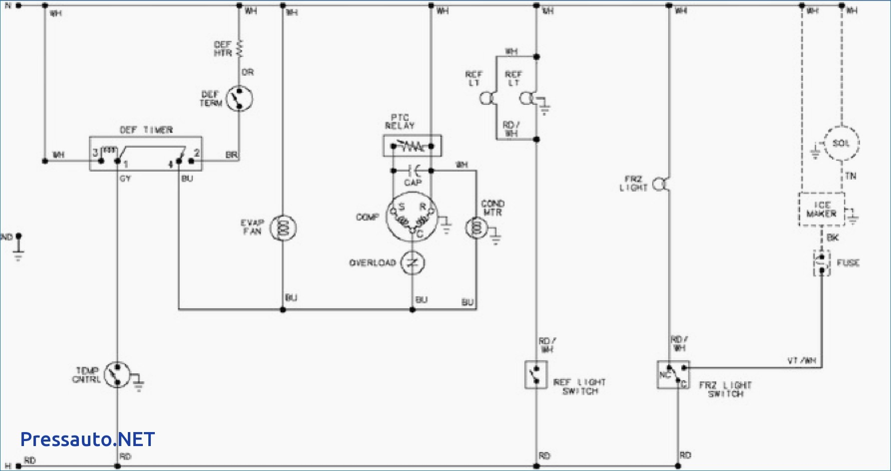 Refrigerator Wiring Diagram Pdf Manual Guide Ice Maker Diagrams Top Image Rh Jaco Wisemamablog Com Whirlpool Defrost Timer
