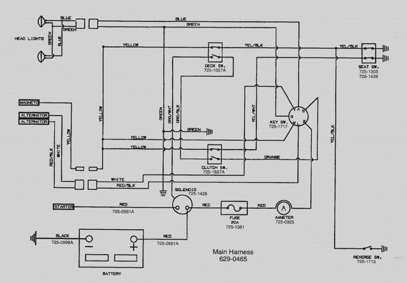 mtd lawnflite wiring diagram manual e book Lawn Tractor Ignition Switch Diagram