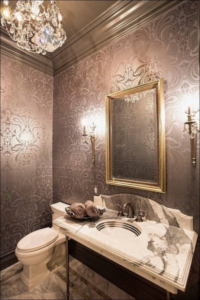 Gorgeous Wallpaper Ideas for your Modern Bathroom