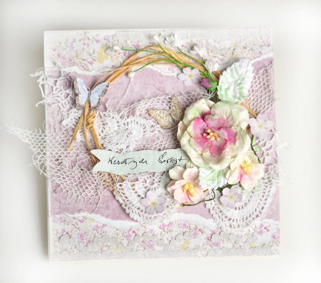 Card by Zanka, using Vintage Spring Basics