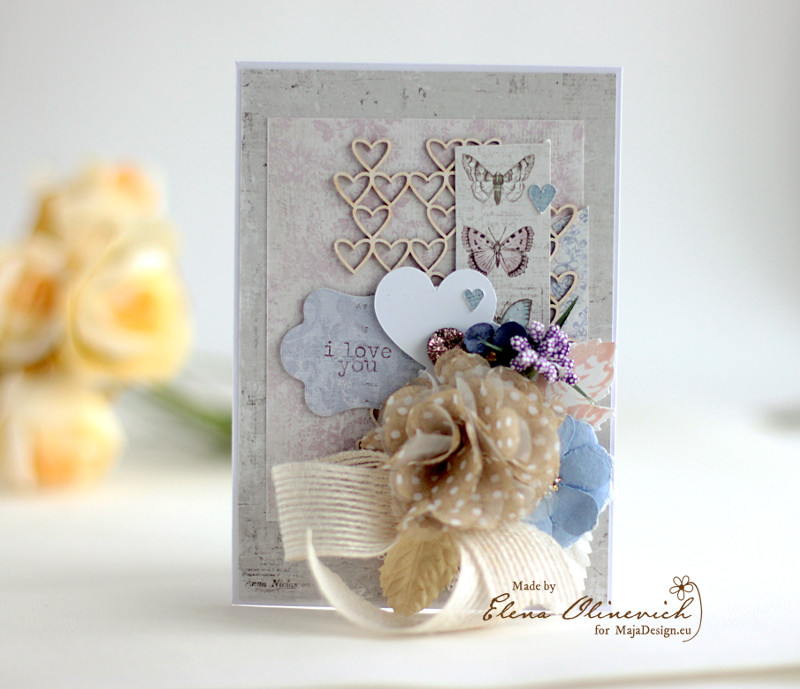 Valentine Day card for Her, by Elena Olinevich, for Maja DesignA