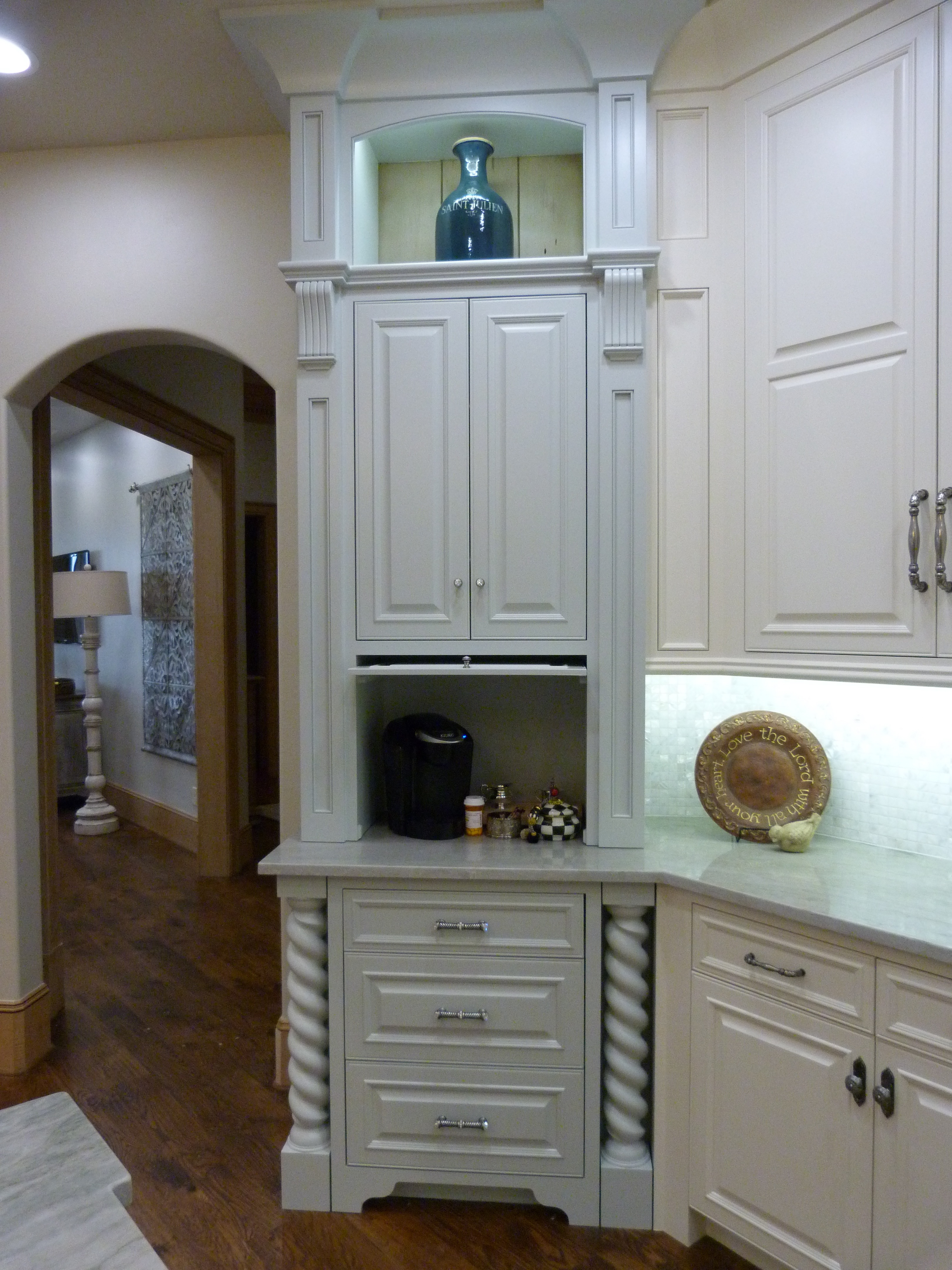 home remodeling oklahoma city kitchen remodel okc White kitchen cabinets that go to the ceiling from Majestic Construction kitchen remodel