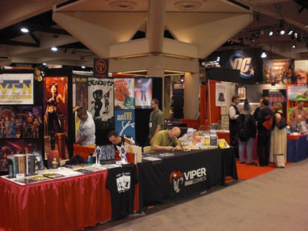 The Viper Comics Booth on the show floor