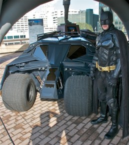Batman visits Batmobile Tour in New Orleans