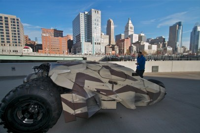 Camo-Tumbler pulls into Cincinnati for Giants-Bengals game