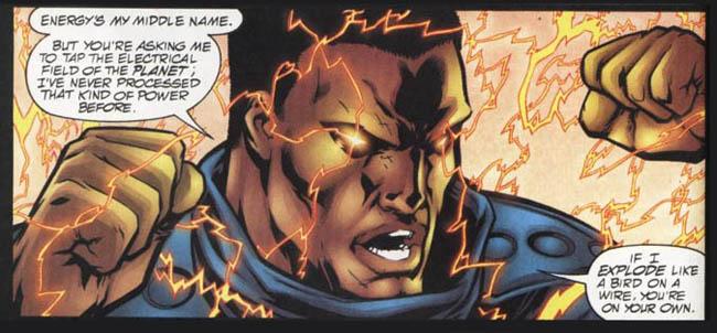 "[Morrison, Grant (w), Porter, Howard (p), & Geraci, Drew (i).] ""Mageddon."" JLA #41 (May 2000), p.10, DC Comics Inc."