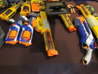 A small sample of the arsenal available to the discerning zombie hunter.