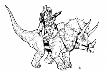 Boba Fett Triceratops