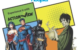 hoopla digital's service adds popular DC Entertainment comics such as Batman: The Dark Knight Returns, Watchmen, Superman: Earth One, Justice League Vol. 1: Origin, Daytripper and more. (PRNewsFoto/hoopla digital)