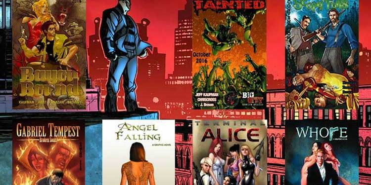 Wayne Hall, Wayne's Comics, Jeff Kaufman, Big City Comics, Bayou Bound, Gabriel Tempest, Angel Falling, Whore, Scary Fails, Tainted, vampires, Terminal Alice, Chip & Gorro,