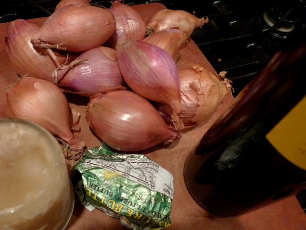 Shallots in Red Wine