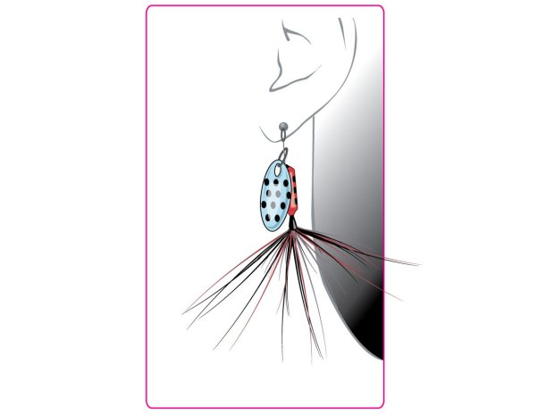 Punk Rock Fishing Lure Earrings