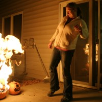 Laser-Triggered Fire-Breathing Pumpkin&nbsp;Prank
