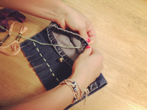 Fringed Sunglass Clutch