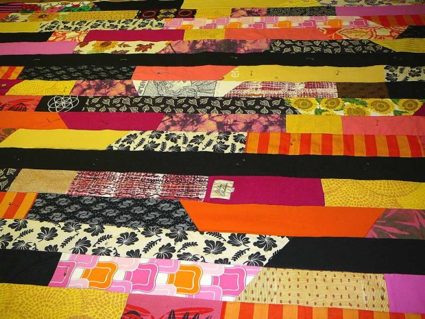 Patchwork Quilt from Clothing Scraps