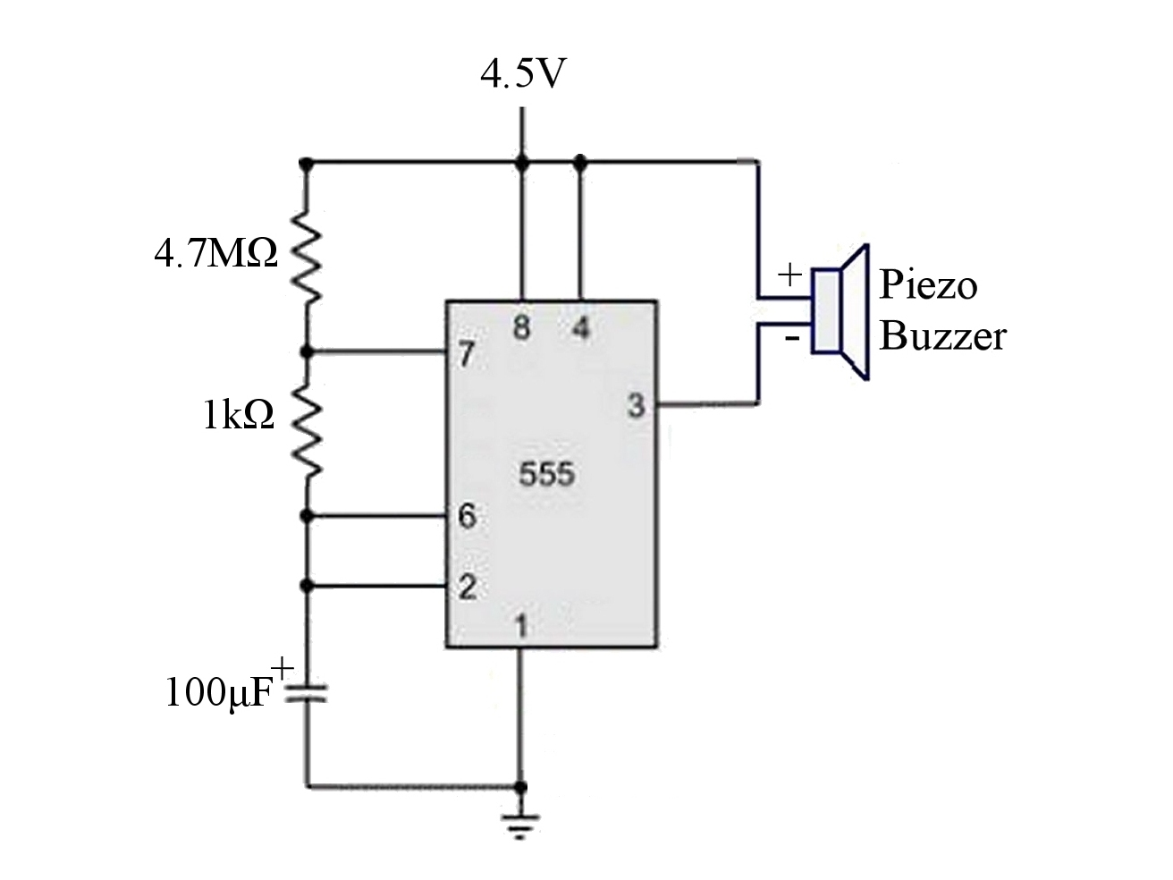 Piezo Buzzer Circuit Diagram Expert Schematics Wiring 1 99 5vac Breadboard Compatible Tinkersphere Otherwise