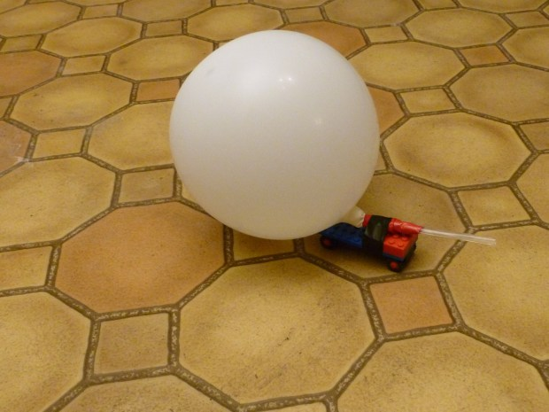 Rocket-Propelled Toy Car