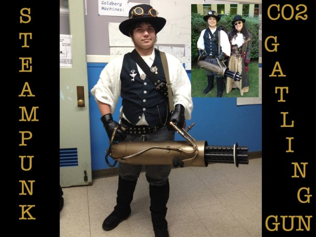 Steampunk CO2 Gatling Gun &amp;&nbsp;Costume