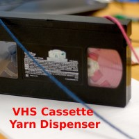 VHS Cassette Yarn&nbsp;Dispenser!