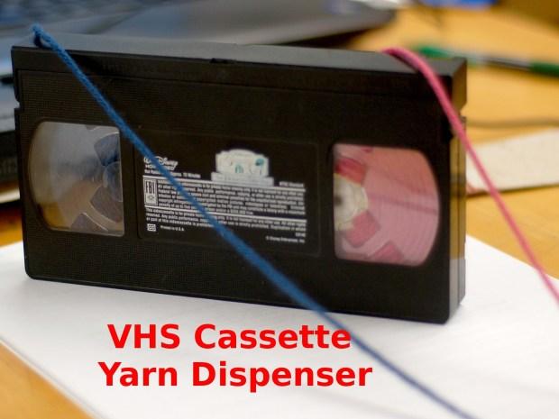 VHS Cassette YarnDispenser!